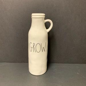 Rae Dunn brand new ceramic GROW vase
